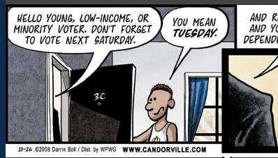 Candorville: Voting's Dangerous!