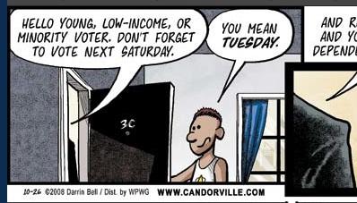 Candorville: Voting's Dangerous!