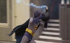 Batman, getting rid of a bomb